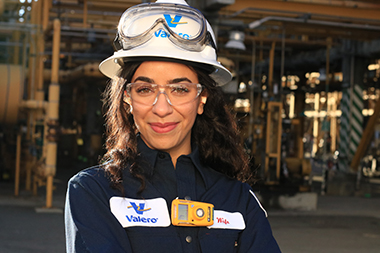 Female Valero Refinery Employee