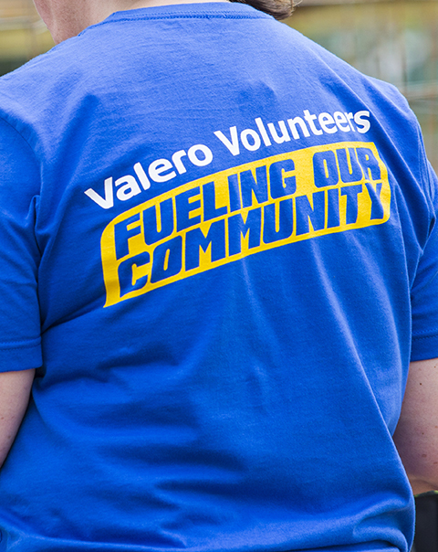 Valero volunteer t-shirt