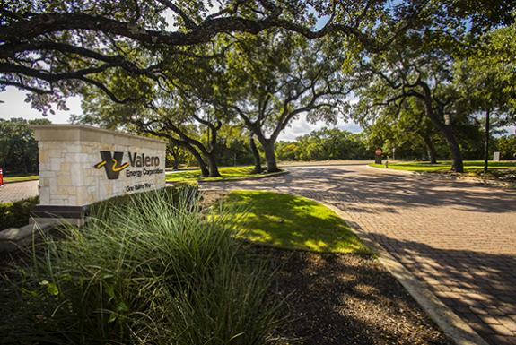 Entrance to Valero's corporate headquarters