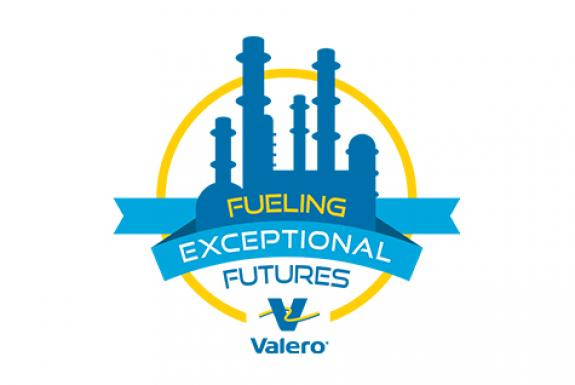 "Valero logo that says ""Fueling Exceptional Futures"""
