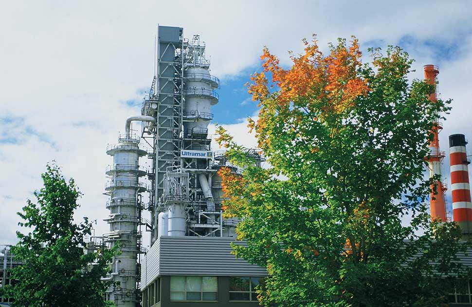 jean gaulin refinery with trees