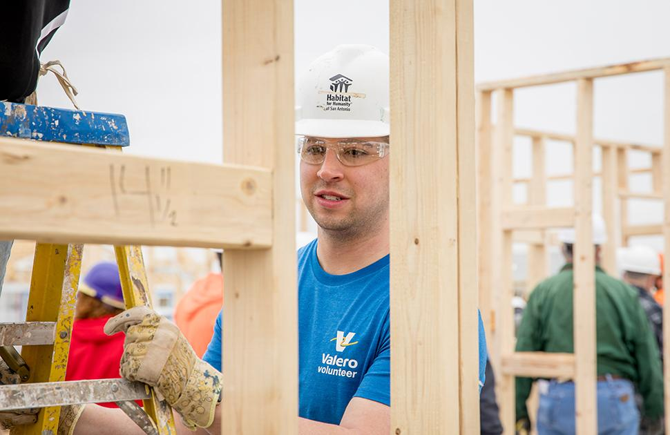 Valero volunteer helps build house for Habitat for Humanity