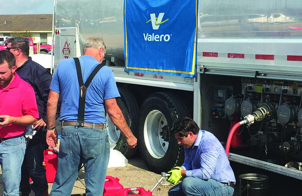 Valero employees distribute fuel in Hurricane Harvey's aftermath