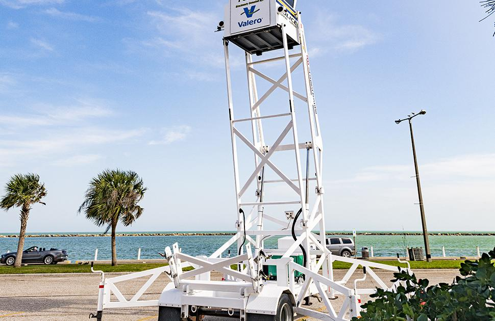 Corpus Christi Police Sky Watch tower donated by Valero