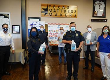 Valero donates hand sanitizer to first responders