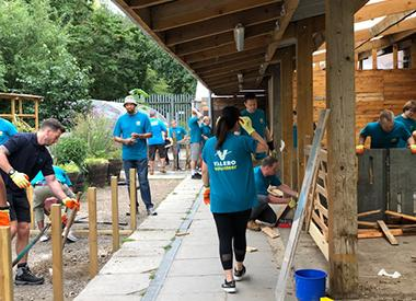 Valero volunteers build new homes for animals at Mudchute Farm